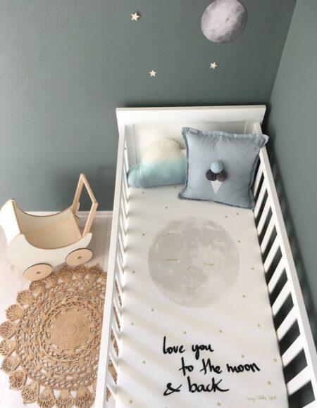 Spannbettlaken für Kinderbett 90 x 200 cm