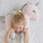 XL Unicorn rosa grau